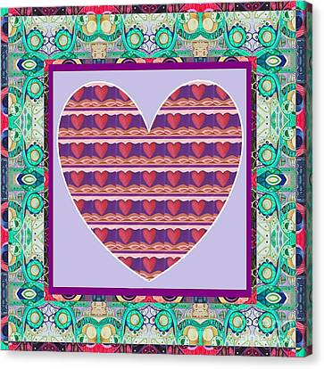 Concern Canvas Print - Just Love - Take 4 by Helena Tiainen