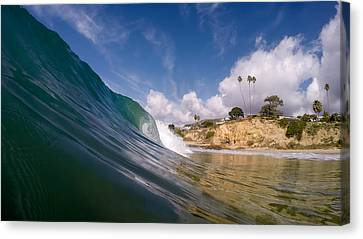 Just Me And The Waves Canvas Print by Sean Foster