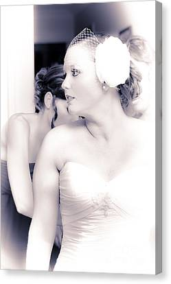 Just Moments Before Walking Down The Aisle Canvas Print