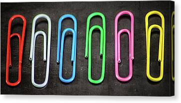 Just Paperclips Canvas Print