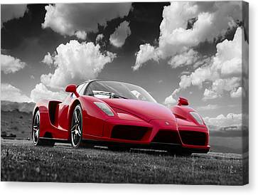 Just Red 1 2002 Enzo Ferrari Canvas Print
