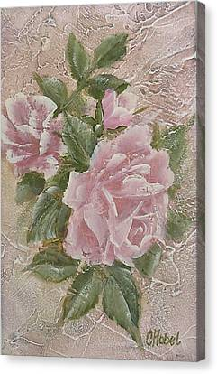 Canvas Print featuring the painting Just Roses by Chris Hobel