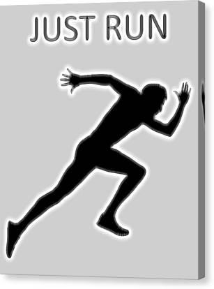 Just Run Poster Canvas Print