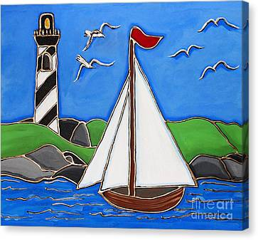Just Sailing By Canvas Print