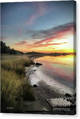 Just The Two Of Us At Sunset Canvas Print