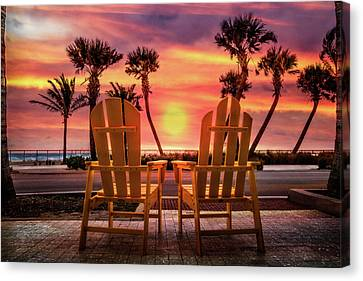 Canvas Print featuring the photograph Just The Two Of Us by Debra and Dave Vanderlaan