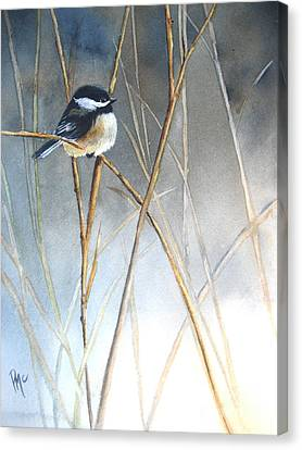 Bird Canvas Print - Just Thinking by Patricia Pushaw