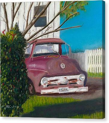 Just Up The Road Canvas Print by Arlene Crafton