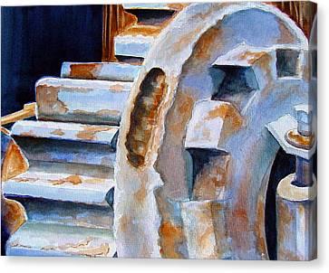 Just Won't Budge Canvas Print by Marsha Elliott
