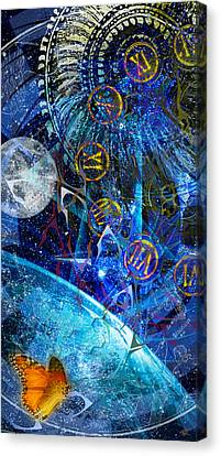 Justbecausality Canvas Print by Kenneth Armand Johnson