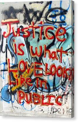 Separation Canvas Print - Justice In Public by Munir Alawi