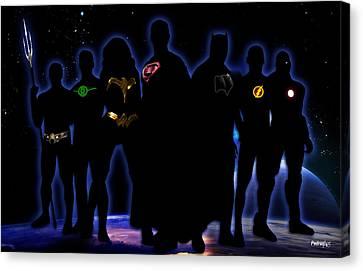 Justice League Canvas Print by PedrazArt Digital Designs