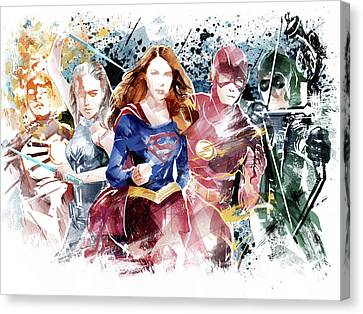Justice League Canvas Print by Unique Drawing