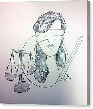 Justice Canvas Print by Loretta Nash