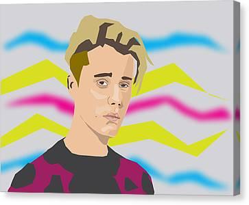 Justin Bieber 2016 Canvas Print by Michael Chatman