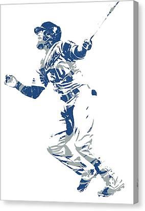 Cities Canvas Print - Justin Turner Los Angeles Dodgers World Series Homerun by Joe Hamilton