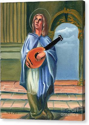 Patron Of Musicians Canvas Print - Justin's Saint by Theresa Cangelosi