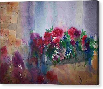 Jutta's Windowbox Canvas Print by Sandy Collier