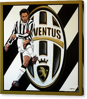 Juventus Fc Turin Painting Canvas Print by Paul Meijering