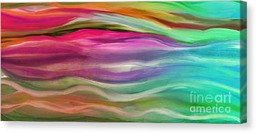 Juxtaposition Abstract Waves Canvas Print by Mindy Sommers