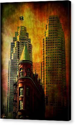 Canvas Print featuring the digital art Juxtaposition by Margaret Hormann Bfa
