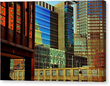 Light Canvas Print - Juxtaposition Of Buildings Pittsburgh Pennsylvania by Amy Cicconi