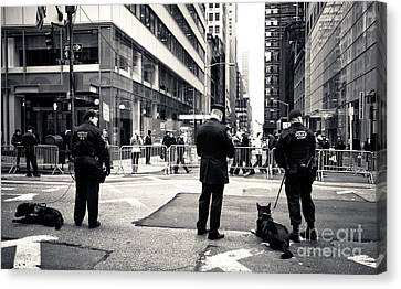 Police Officer Canvas Print - K-9 Unit by John Rizzuto