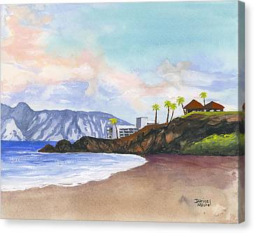 Canvas Print featuring the painting Kaanapali Beach by Darice Machel McGuire