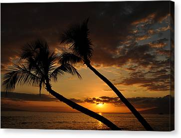 Ka'anapali Beach Sunset Canvas Print