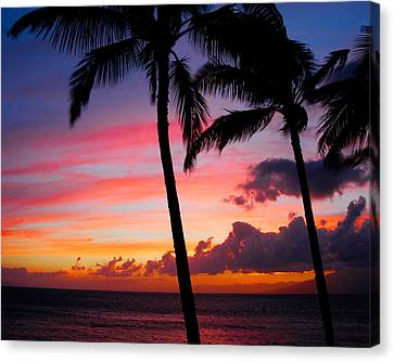 Kaanapali Sunset  Kaanapali  Maui Hawaii Canvas Print by Michael Bessler