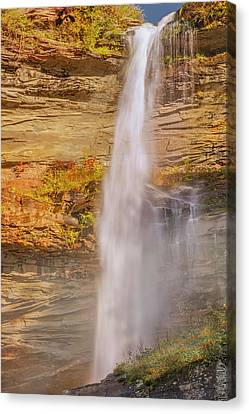Canvas Print featuring the photograph Kaaterskill Falls Ny by Susan Candelario