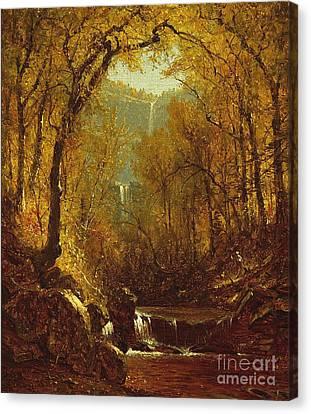 The Fall Canvas Print - Kaaterskill Falls by Sanford Robinson Gifford