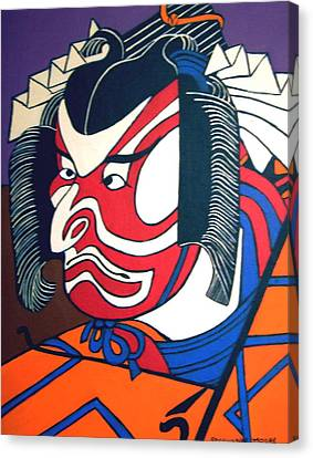 Kabuki Actor Canvas Print by Stephanie Moore