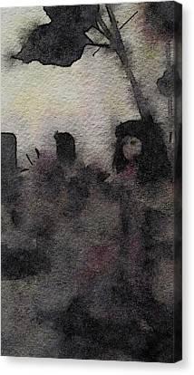 Kabuki Rain Canvas Print