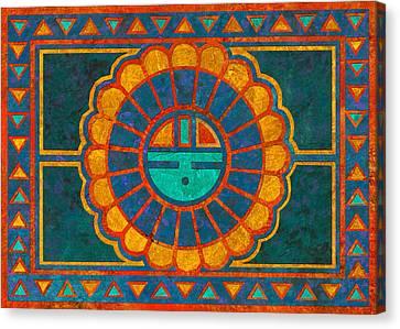 Kachina Sun Spirit Canvas Print by Linda Henry