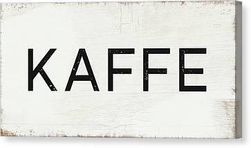 Oslo Canvas Print - Kaffe Sign- Art By Linda Woods by Linda Woods