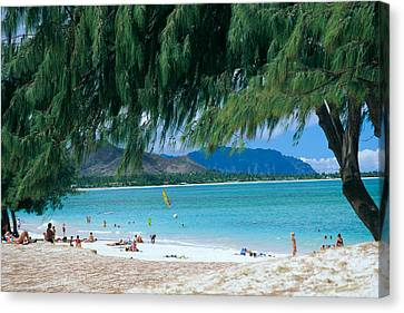 Kailua Beach Park Canvas Print by Peter French - Printscapes