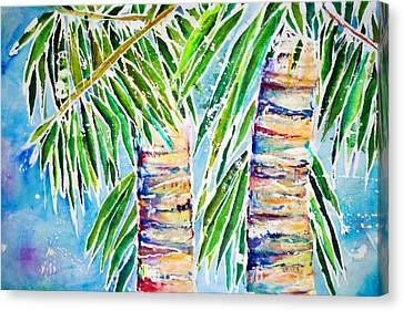 Kaimana Beach Canvas Print by Julie Kerns Schaper - Printscapes