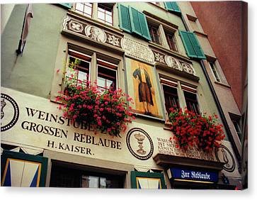 Kaisers Reblaube In Zurich Switzerland Canvas Print by Susanne Van Hulst
