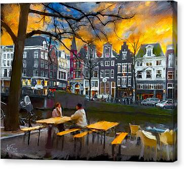 Canvas Print featuring the photograph Kaizersgracht 451. Amsterdam by Juan Carlos Ferro Duque