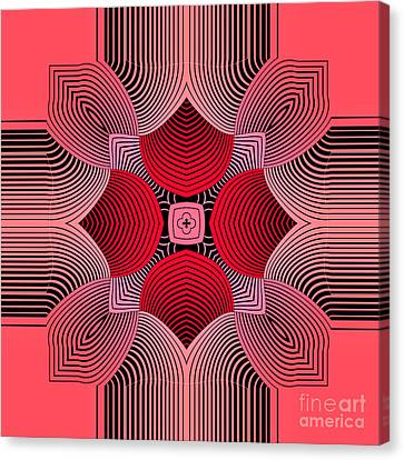 Canvas Print featuring the digital art Kal - 36c77 by Variance Collections
