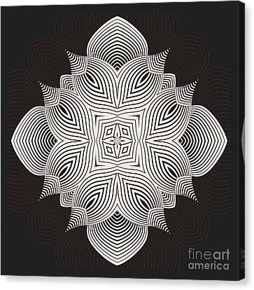 Canvas Print featuring the digital art Kal - 71c89 by Variance Collections