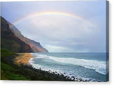 Kalalau Beach Rainbow Canvas Print by Kevin Smith