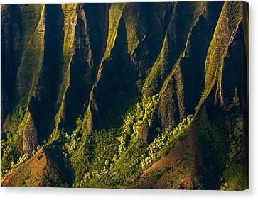 Kalalau Valley Ridges Canvas Print by Thorsten Scheuermann