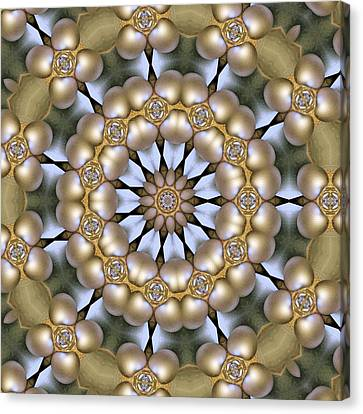 Canvas Print featuring the digital art Kaleidoscope 130 by Ron Bissett