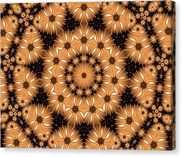 Canvas Print featuring the digital art Kaleidoscope 131 by Ron Bissett