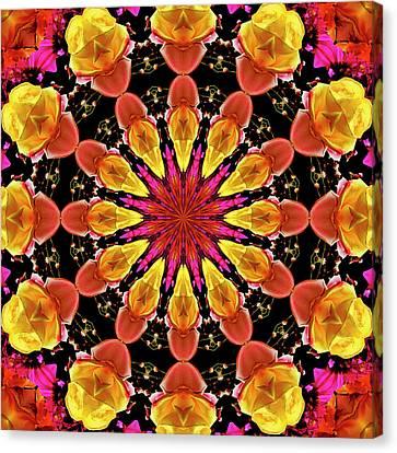 Kaleidoscope Art I I Canvas Print by Laura Mountainspring