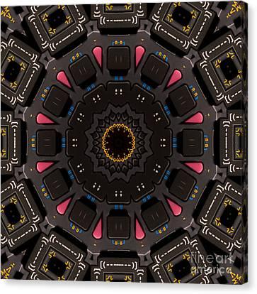 Kaleidoscopic Calculator Canvas Print by Rolf Bertram