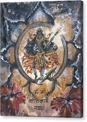 Kali And Ouroboros  Canvas Print by Silk Alchemy