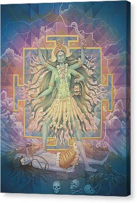 Kali Yantra Canvas Print - Kali by Pieter Weltevrede